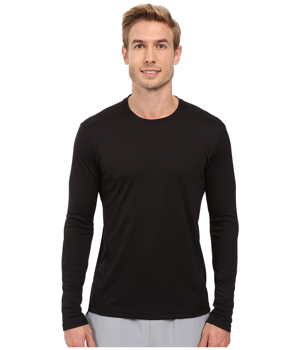adidas - Climalite Single Long Sleeve Crew (Black) Men's Underwear
