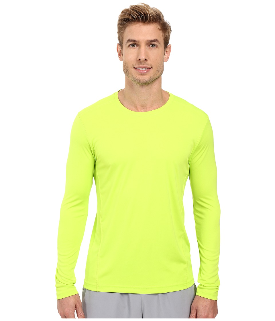 adidas - Climalite Single Long Sleeve Crew (Semi Solar Slime) Men's Underwear