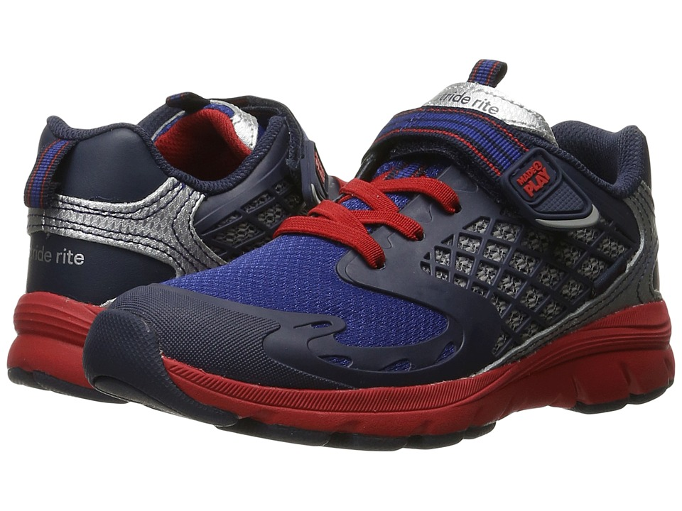 Stride Rite - Breccen (Toddler/Little Kid) (Navy Leather/Mesh) Boy's Shoes