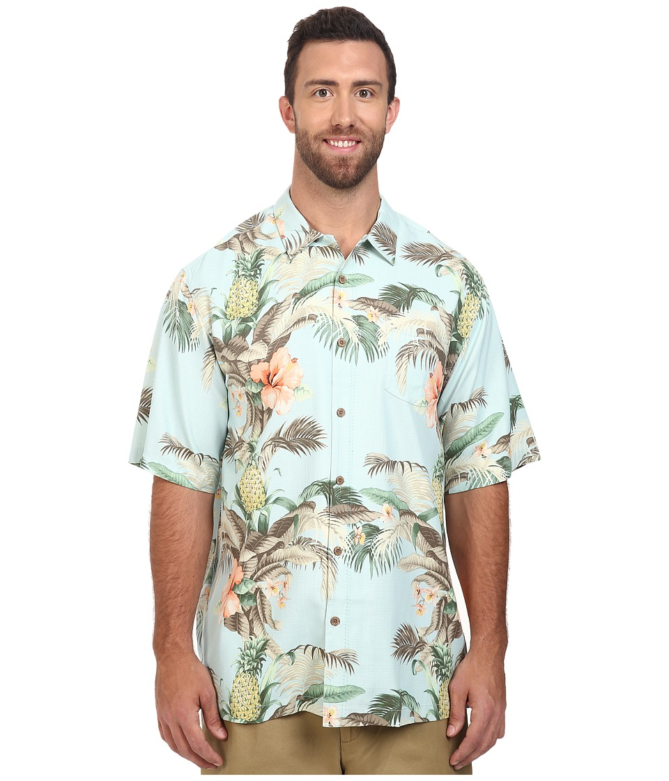 Tommy Bahama Big & Tall - Big Tall Shut the Frond Door Woven Shirt (Plume) Men's Clothing