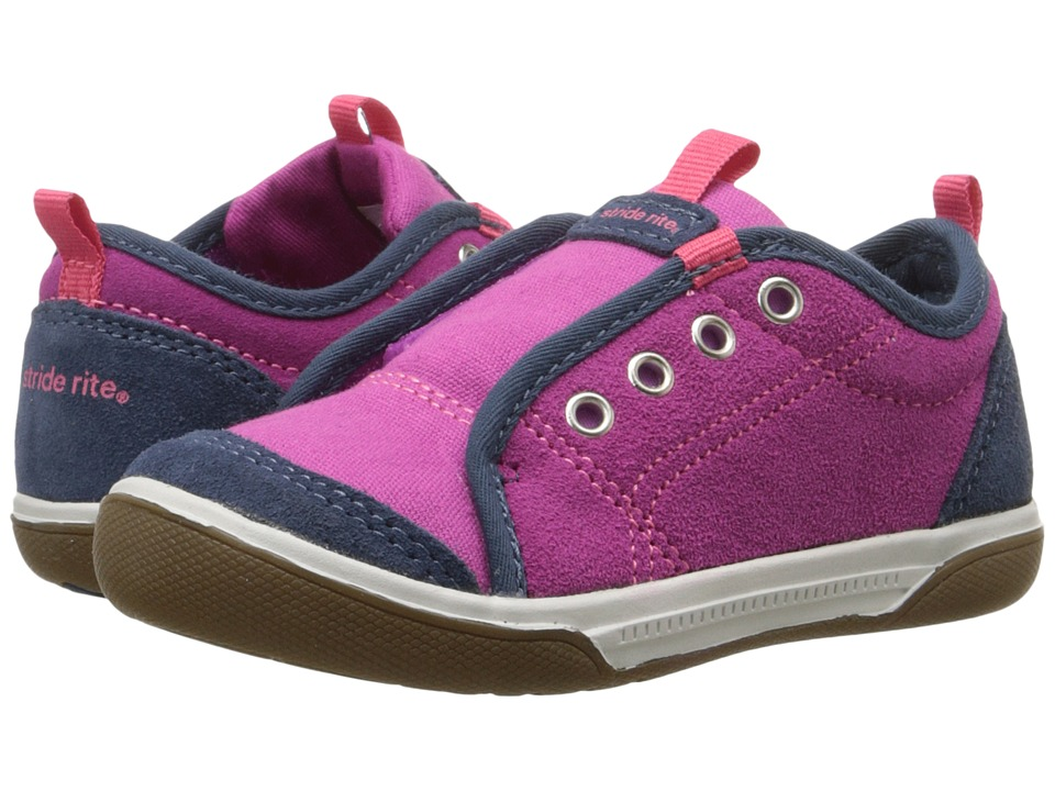 Stride Rite - Taasi (Toddler) (Magenta/Navy Suede/Textile) Girl's Shoes