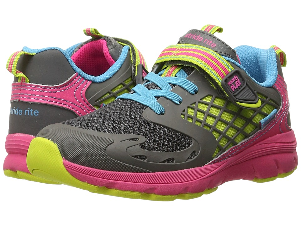 Stride Rite - M2P Cannan (Toddler/Little Kid) (Pink/Grey/Mesh) Girl's Shoes