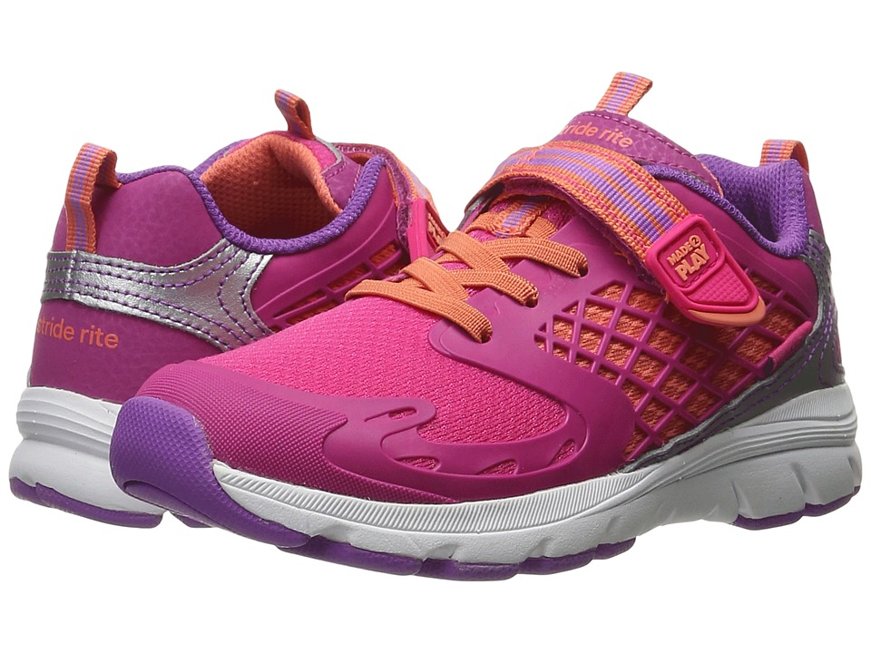 Stride Rite - M2P Cannan (Toddler/Little Kid) (Pink Leather/Mesh) Girl's Shoes