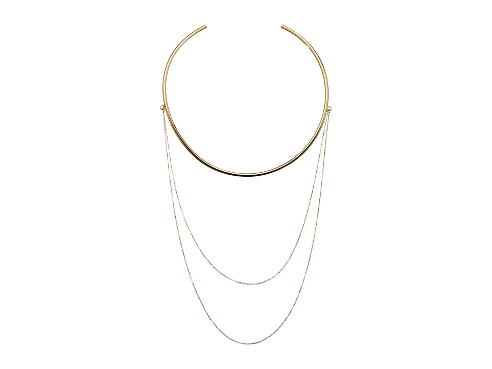 Vince Camuto - Asymmetric Chain Collar Necklace (Gold) Necklace