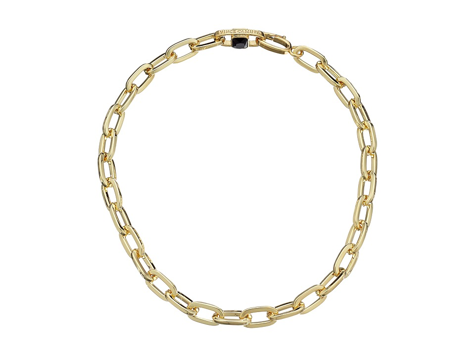 Vince Camuto - Oval Link Necklace (Gold/Jet) Necklace