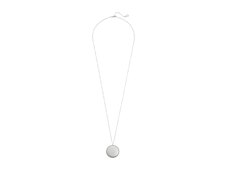 Vince Camuto - Round Pendant Necklace 34 (Light Rhodium/Crystal) Necklace