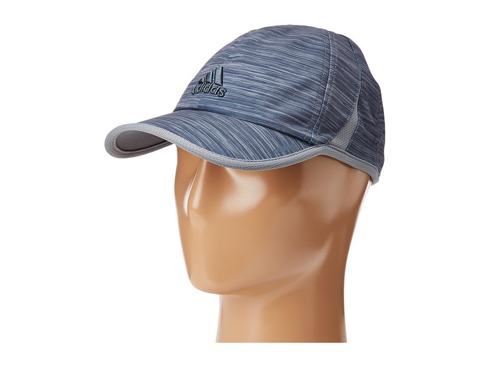 adidas - Adizero Extra Cap (Grey Space Dye Print) Caps