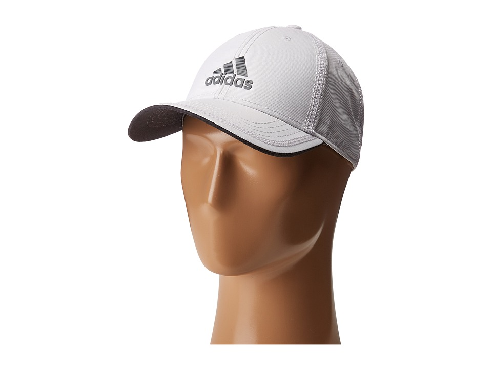 adidas - Contract II Cap (White/Grey Lo Stripe Print) Caps