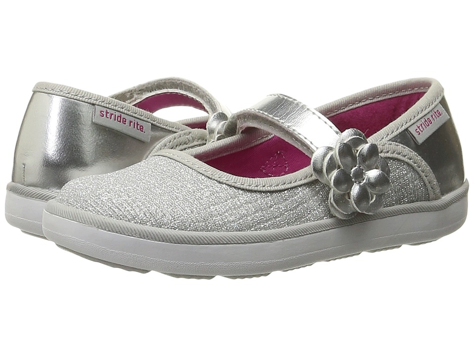 Stride Rite - Marleigh (Toddler/Little Kid) (Silver Textile) Girl's Shoes