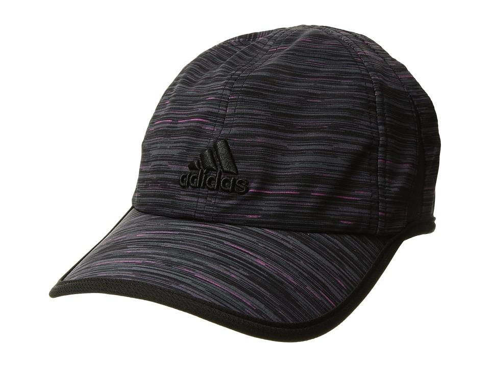 adidas - Adizero Extra Cap (Intense Pink Space Dye Print/Black) Caps