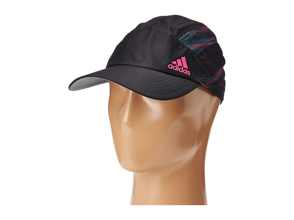 adidas - Speed Cap (Black/Shock Pink/Macro Heather Print) Caps