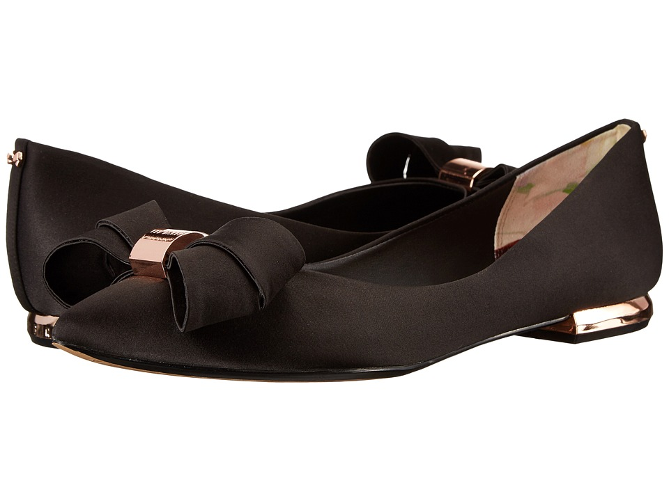 Ted Baker - Ilebdi (Black Satin) Women's Dress Flat Shoes