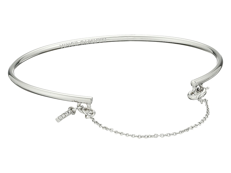 Vince Camuto - Chain Crystal Charm Cuff Bracelet (Light Rhodium/Crystal) Bracelet