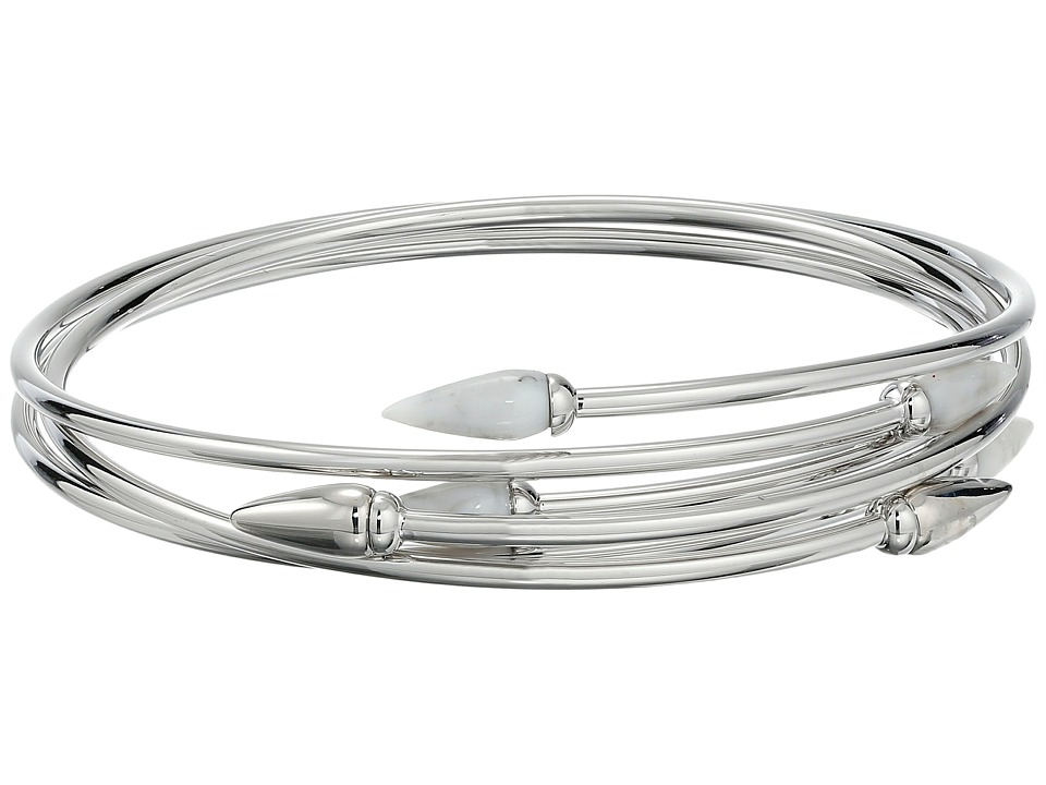 Vince Camuto - Sculptural Flex Bracelet (Light Rhodium/White Swirl) Bracelet