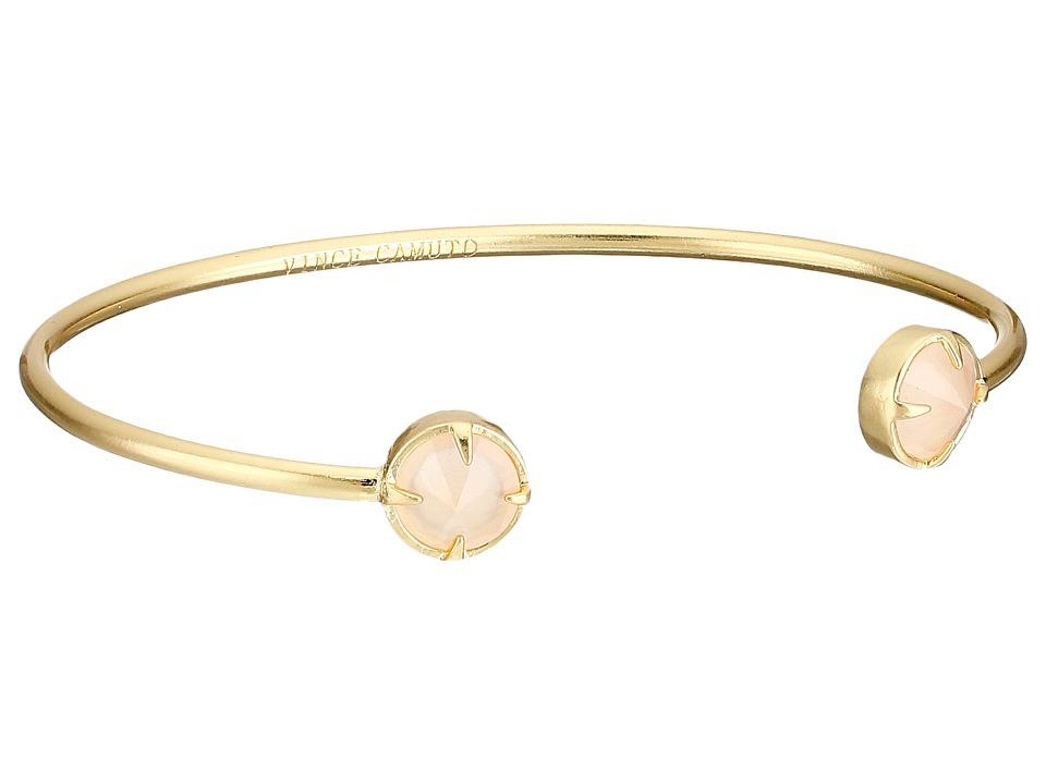 Vince Camuto - Rivoli Dainty Cuff Bracelet (Worn Gold/Milky Light Peach) Bracelet