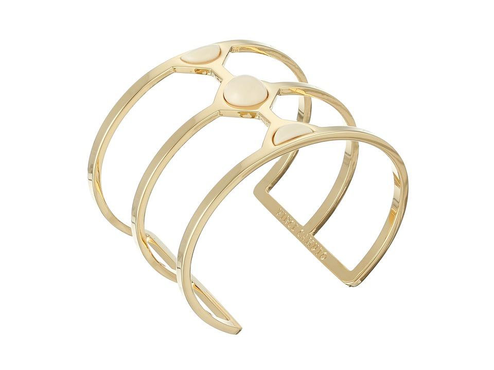Vince Camuto - Milky Resin Cut Out Cuff Bracelet (Gold/Ivory) Bracelet