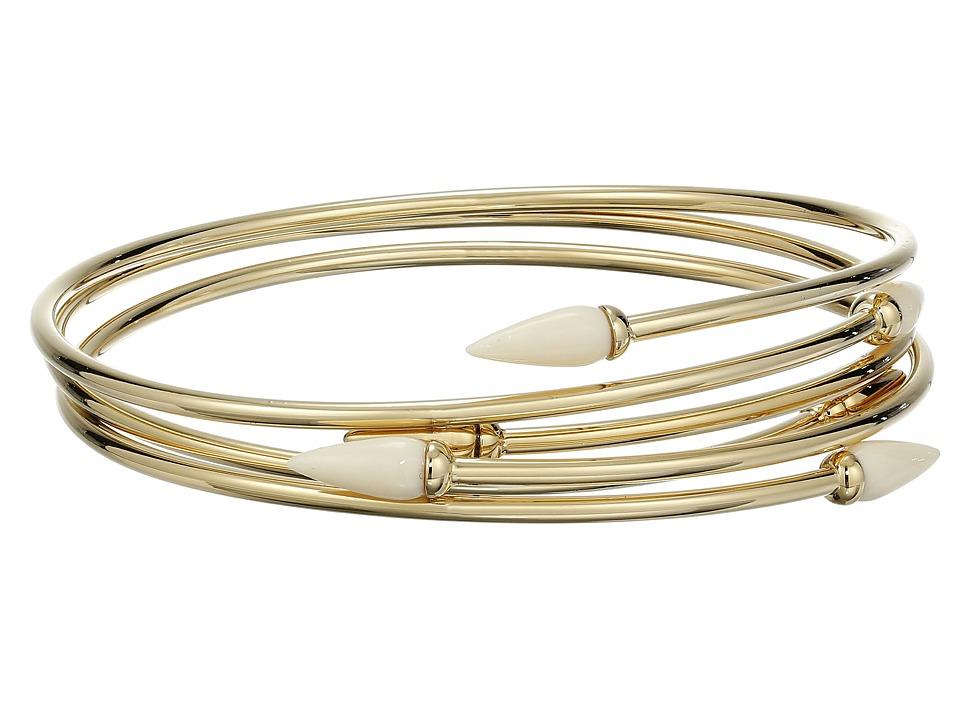 Vince Camuto - Sculptural Flex Bracelet (Gold/Ivory) Bracelet