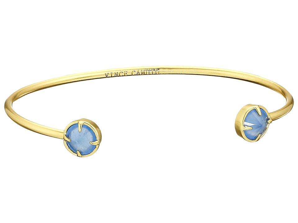 Vince Camuto - Rivoli Dainty Cuff Bracelet (Worn Gold/Milky Periwinkle) Bracelet