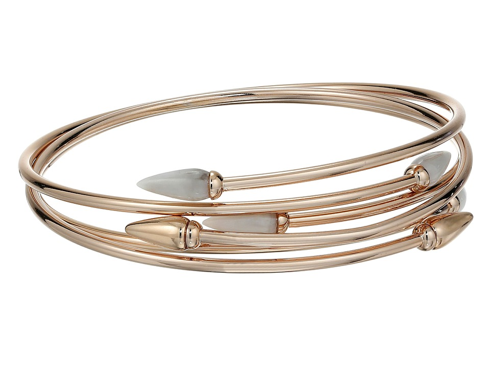 Vince Camuto - Sculptural Flex Bracelet (Burnt Rose Gold/White Swirl) Bracelet