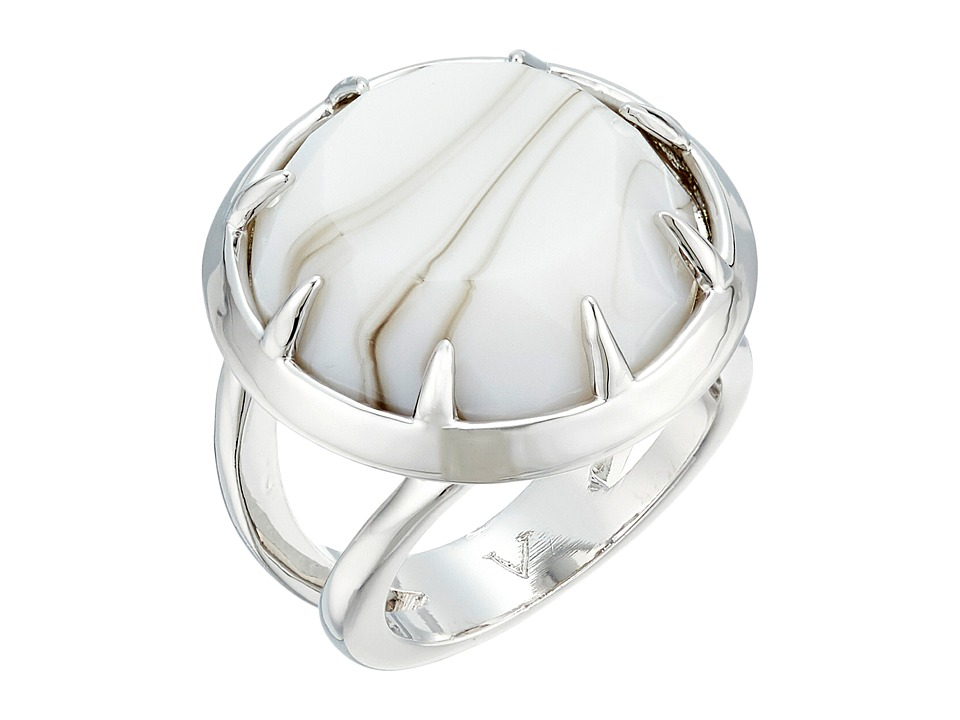 Vince Camuto - Round Stone Ring (Light Rhodium/White Swirl) Ring