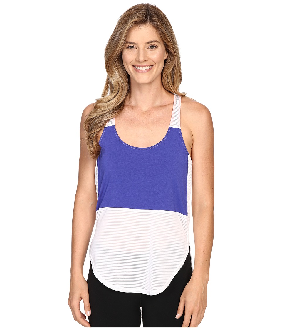 Zobha Racerback Tank Top w/ High-Low Shirttail Hem (Bright White) Women