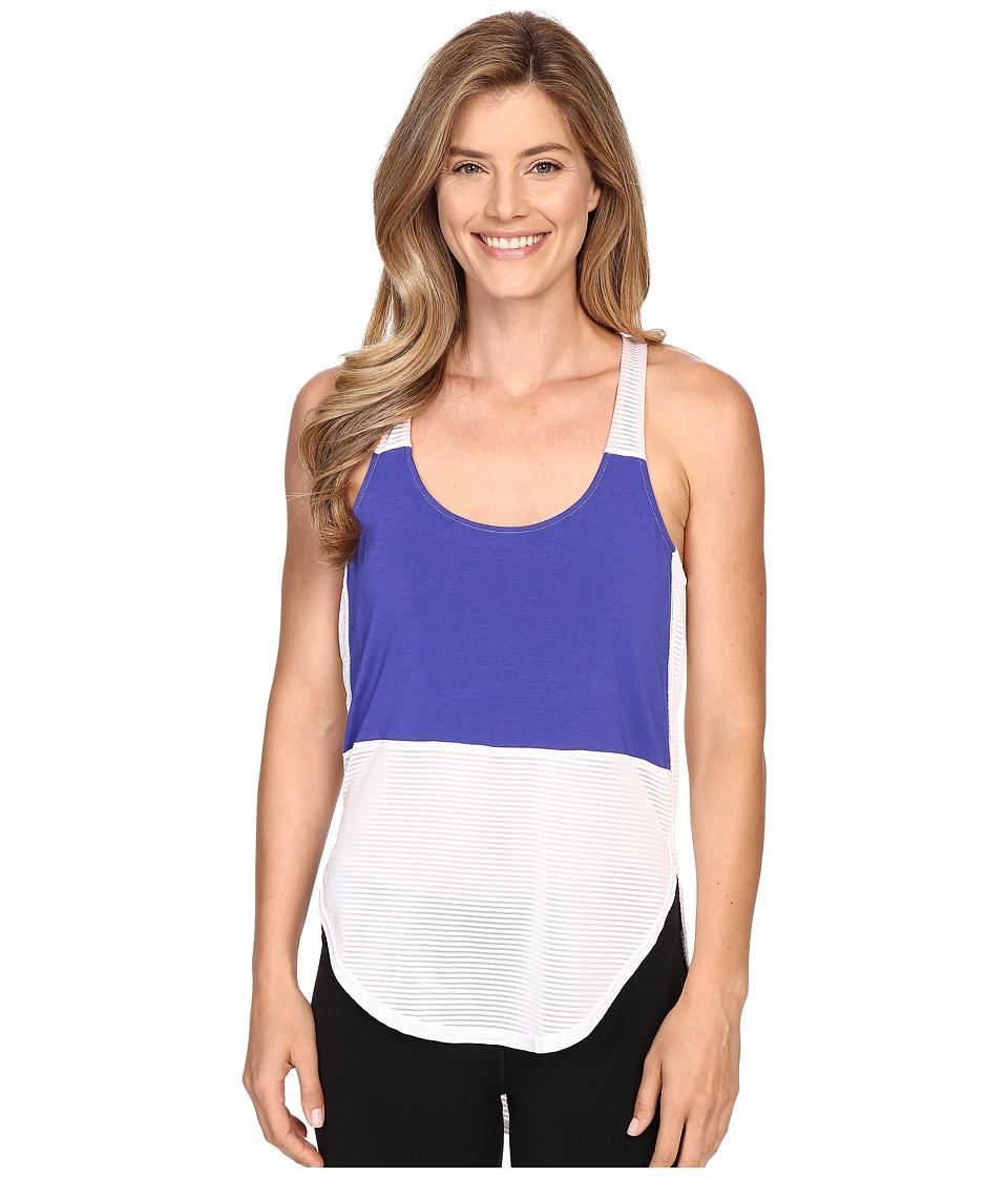 Zobha Racerback Tank Top w/ High-Low Shirttail Hem (Bright White) Women