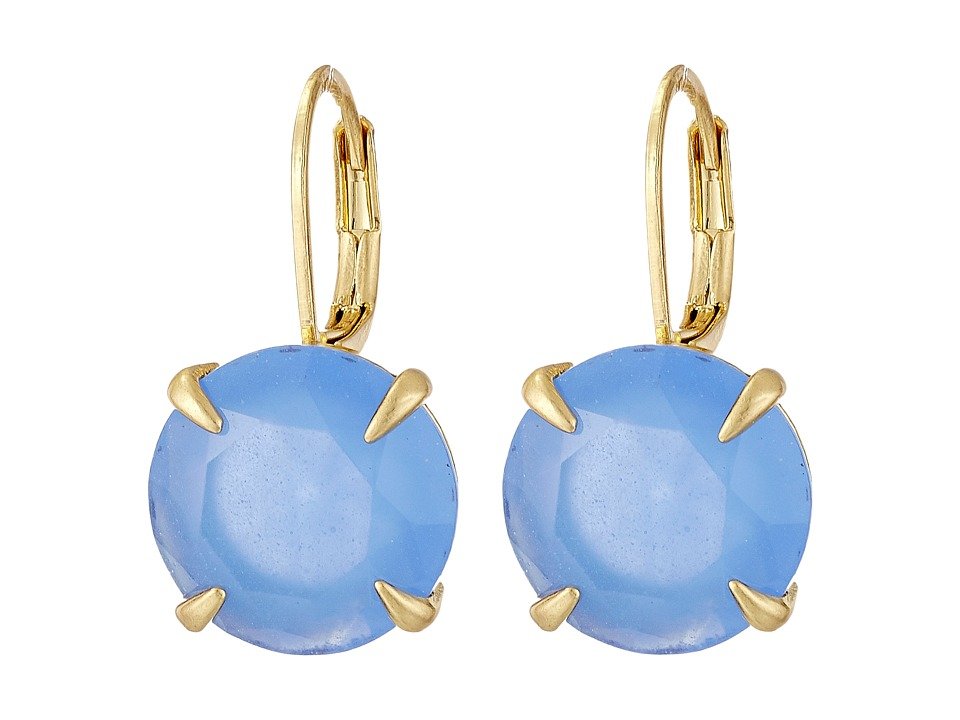 Vince Camuto - Round Leverback Earrings (Worn Gold/Milky Periwinkle) Earring