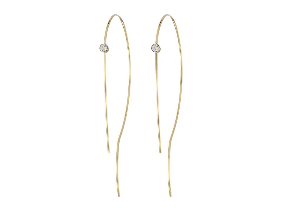 Vince Camuto - Organic Hoop with Stone Earrings (Gold/Crystal) Earring