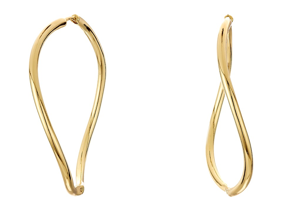Vince Camuto - Twisted Large Huggy Earrings (Gold) Earring