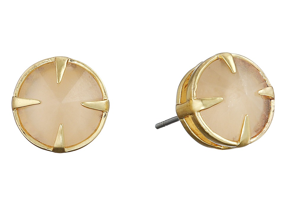 Vince Camuto - Rivoli Stud Earrings (Worn Gold/Milky Light Peach) Earring
