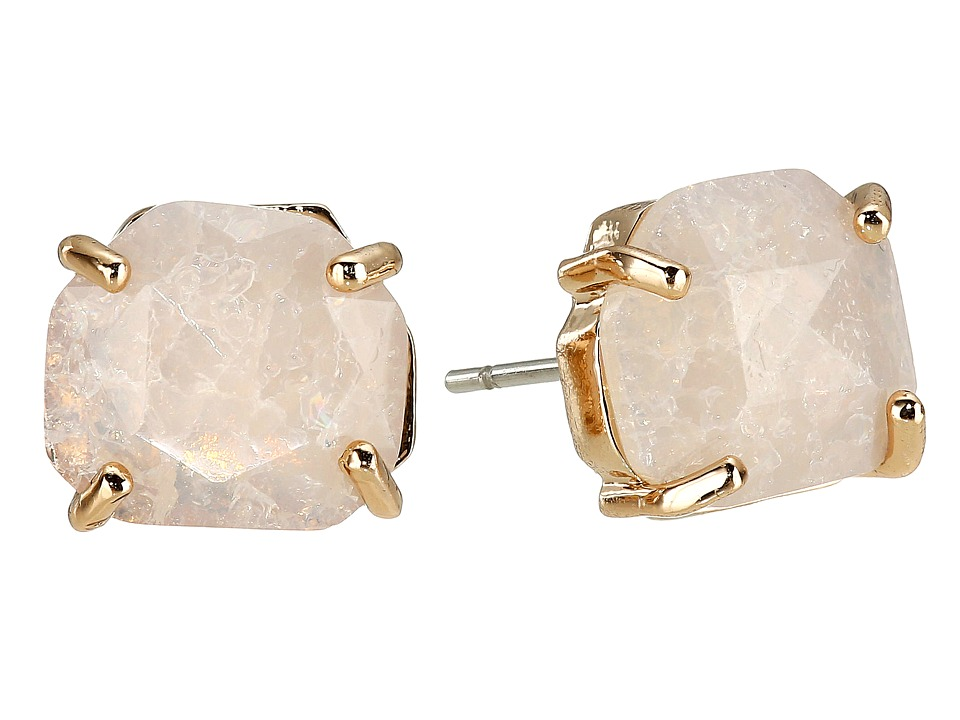Vince Camuto - Stone Stud Earrings (Burnt Rose Gold/Crackled White Opal) Earring