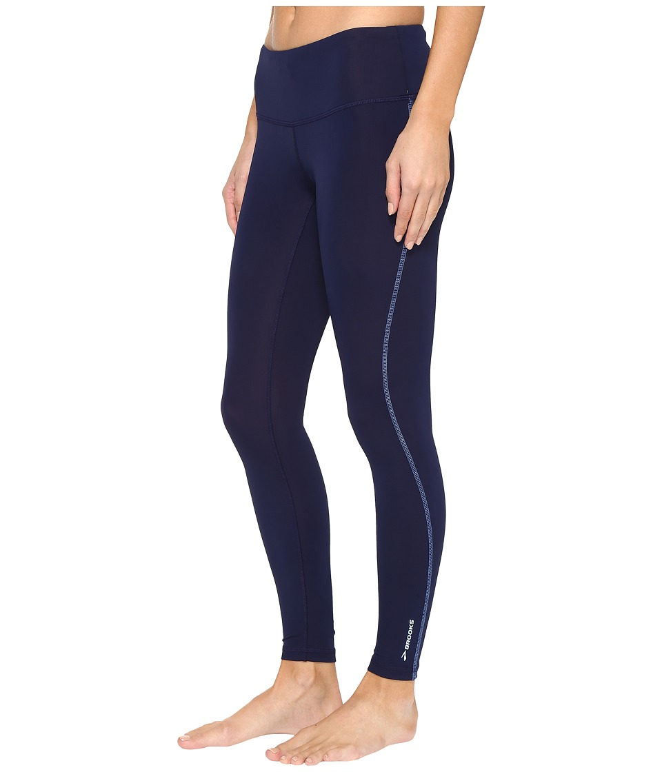 Brooks - Go-To Tights (Navy/Wave) Women's Workout