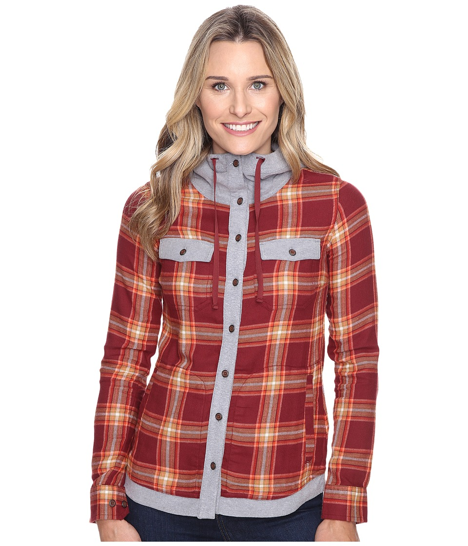 Marmot - Reagan Flannel Long Sleeve (Madder Red) Women's Long Sleeve Button Up