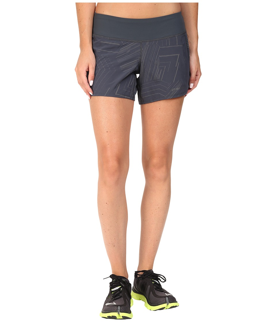 Brooks - Chaser 5 Shorts (Asphalt Reflective Cosmo) Women's Shorts