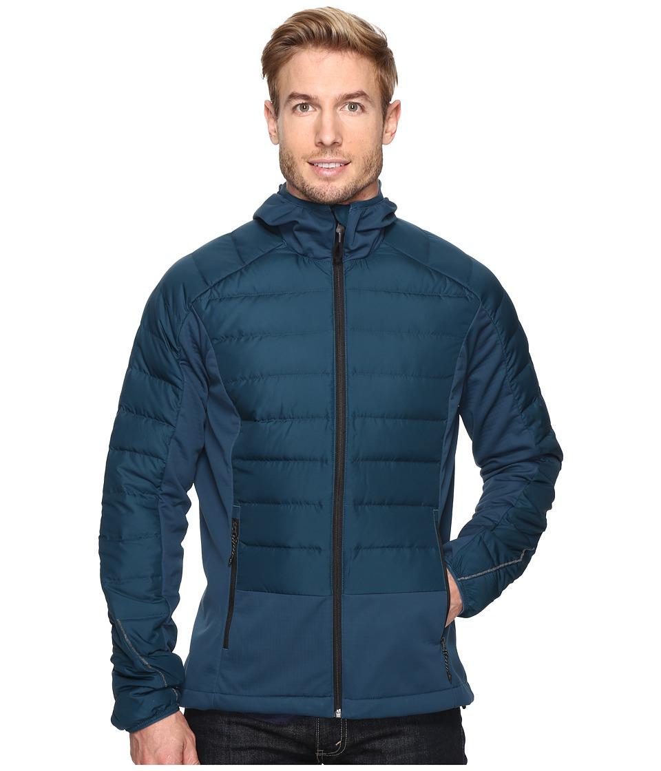 adidas Outdoor - Hiking Hybrid Down Hoodie (Utility Green) Men's Sweatshirt