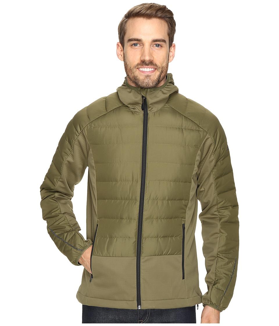 adidas Outdoor - Hiking Hybrid Down Hoodie (Olive Cargo) Men's Sweatshirt