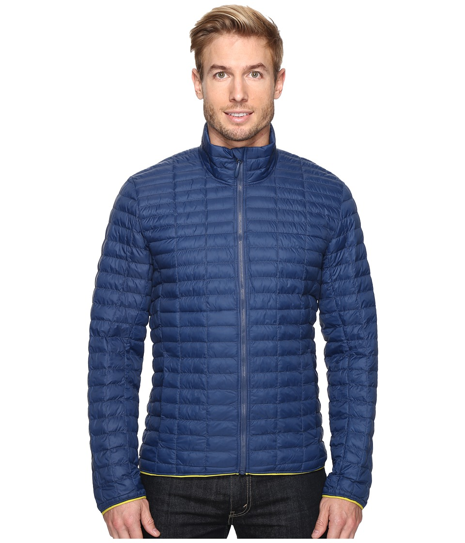 adidas Outdoor - Flyloft Jacket (Mineral Blue/Unity Lime) Men's Coat