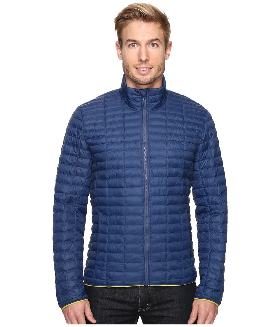adidas Outdoor - Flyloft Jacket (Mineral Blue/Unity Lime) Men's Coat