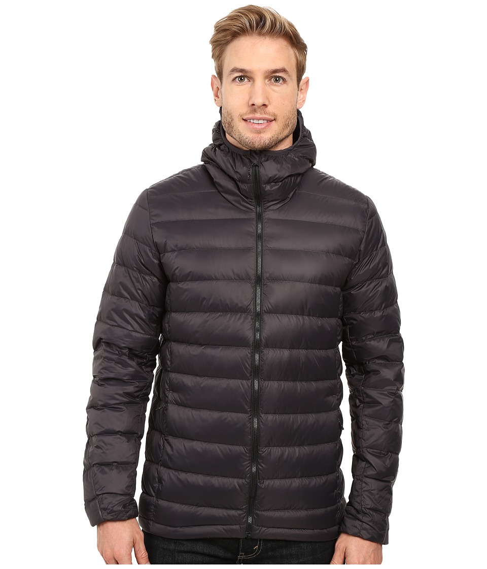 adidas Outdoor - Light Down Hooded Jacket (Utility Black) Men's Coat