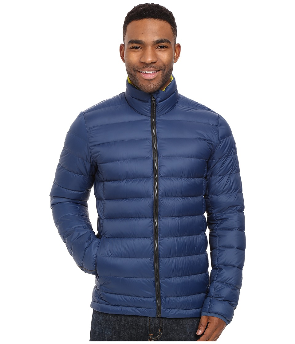 adidas Outdoor - Light Down Jacket (Mineral Blue/Unity Lime) Men's Coat