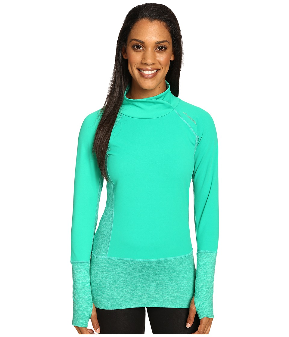 Brooks - Threshold Long Sleeve Top (Parque) Women's Long Sleeve Pullover