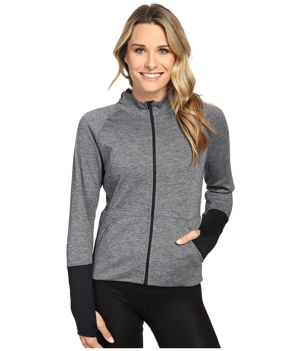 Brooks - Joyride Hoodie (Heather Black) Women's Sweatshirt