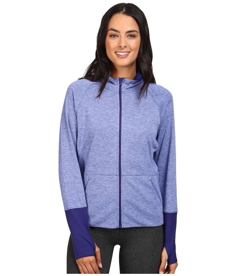 Brooks - Joyride Hoodie (Heather Marine) Women's Sweatshirt