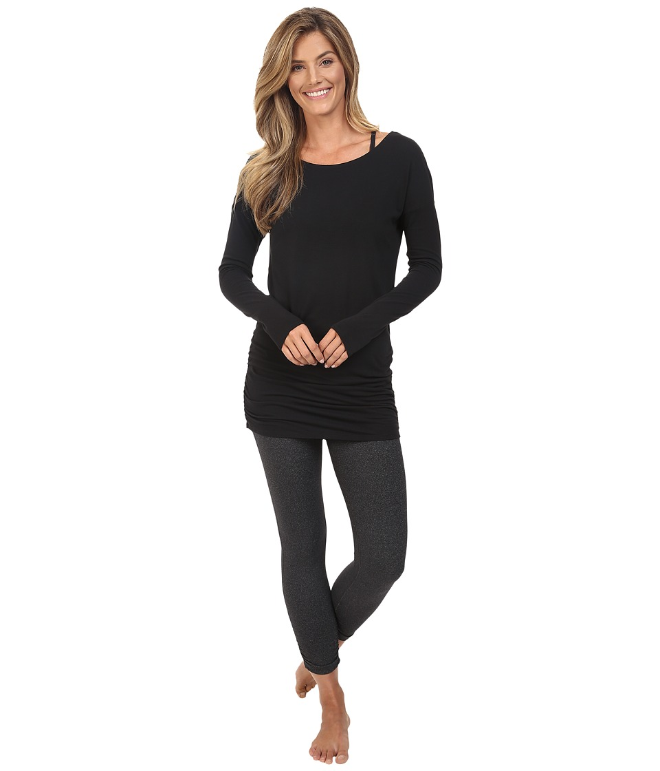 Lucy - Yoga Girl Long Sleeve Top (Lucy Black) Women's Long Sleeve Pullover