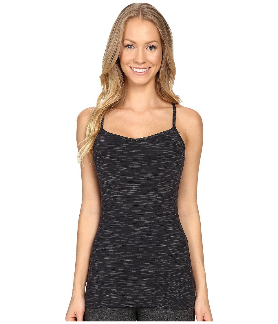 Lucy - Yoga Siren Racerback (Lucy Black Spacedye Stripe) Women's Sleeveless