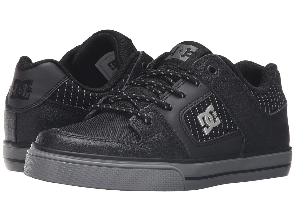 DC Kids Pure SE (Big Kid) (Black/Battleship/Black) Boys Shoes