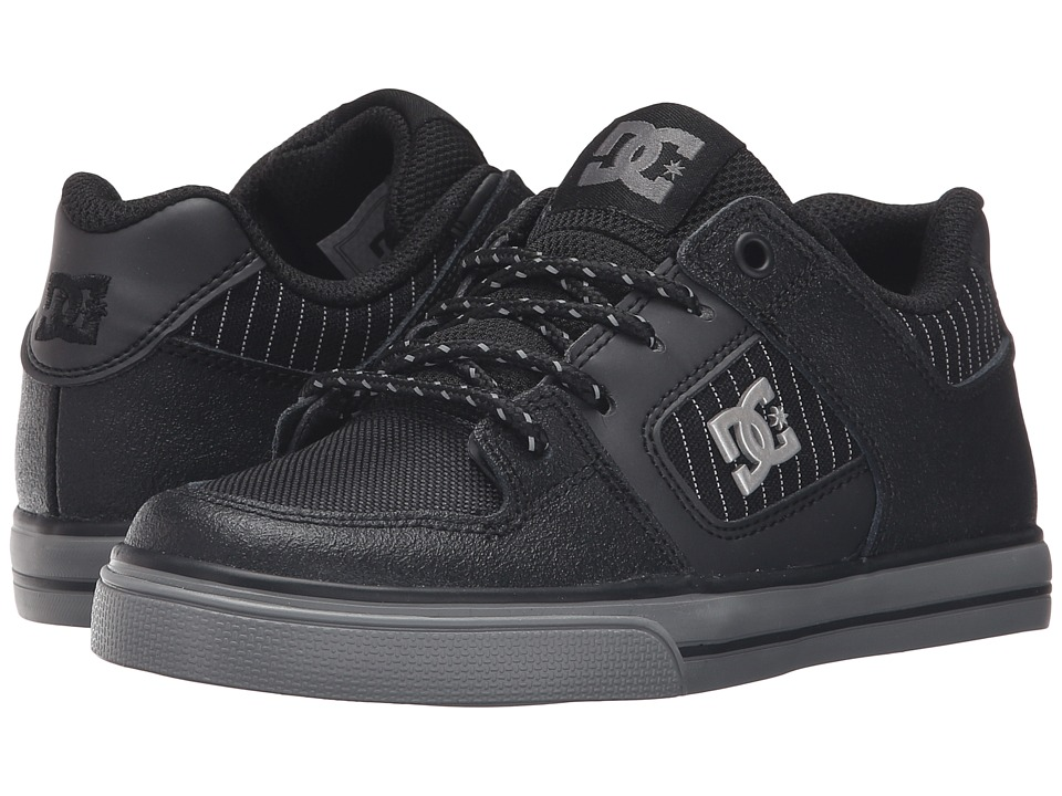 DC Kids - Pure SE (Little Kid) (Black/Battleship/Black) Boys Shoes