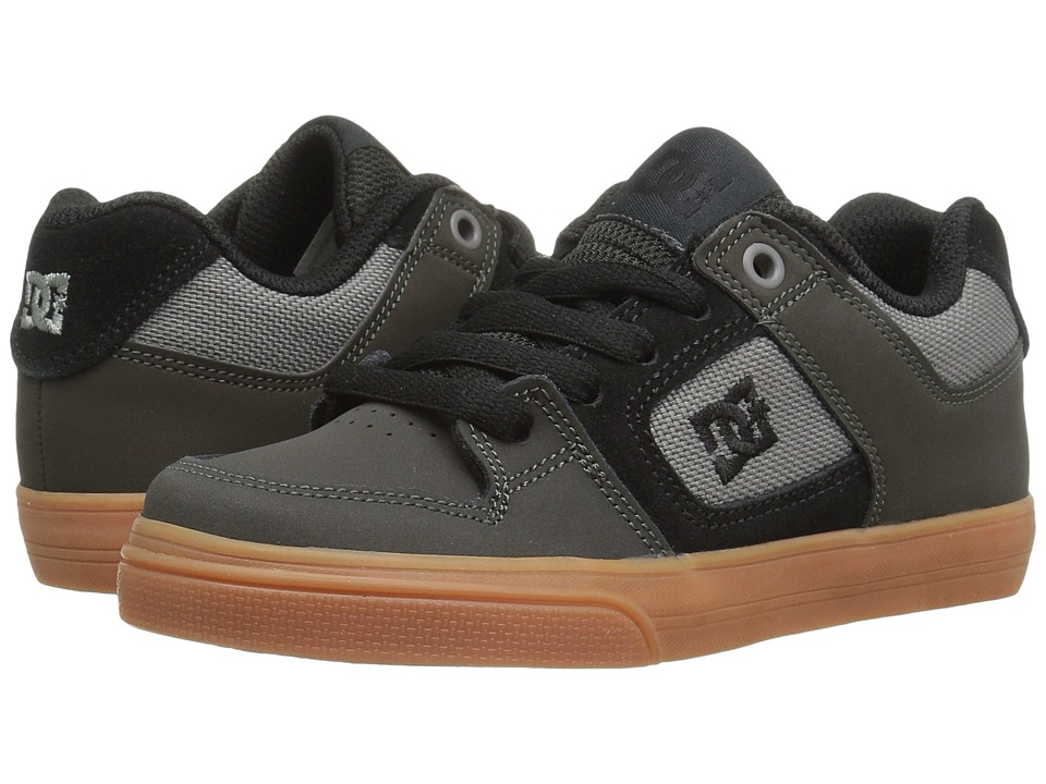 DC Kids - Pure (Little Kid) (Grey/Black) Boys Shoes