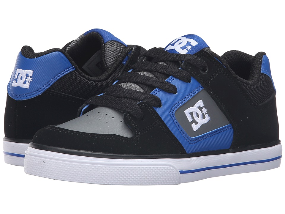 DC Kids - Pure (Little Kid) (Black/Blue/Grey) Boys Shoes