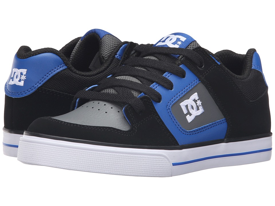DC Kids - Pure (Big Kid) (Black/Blue/Grey) Boys Shoes
